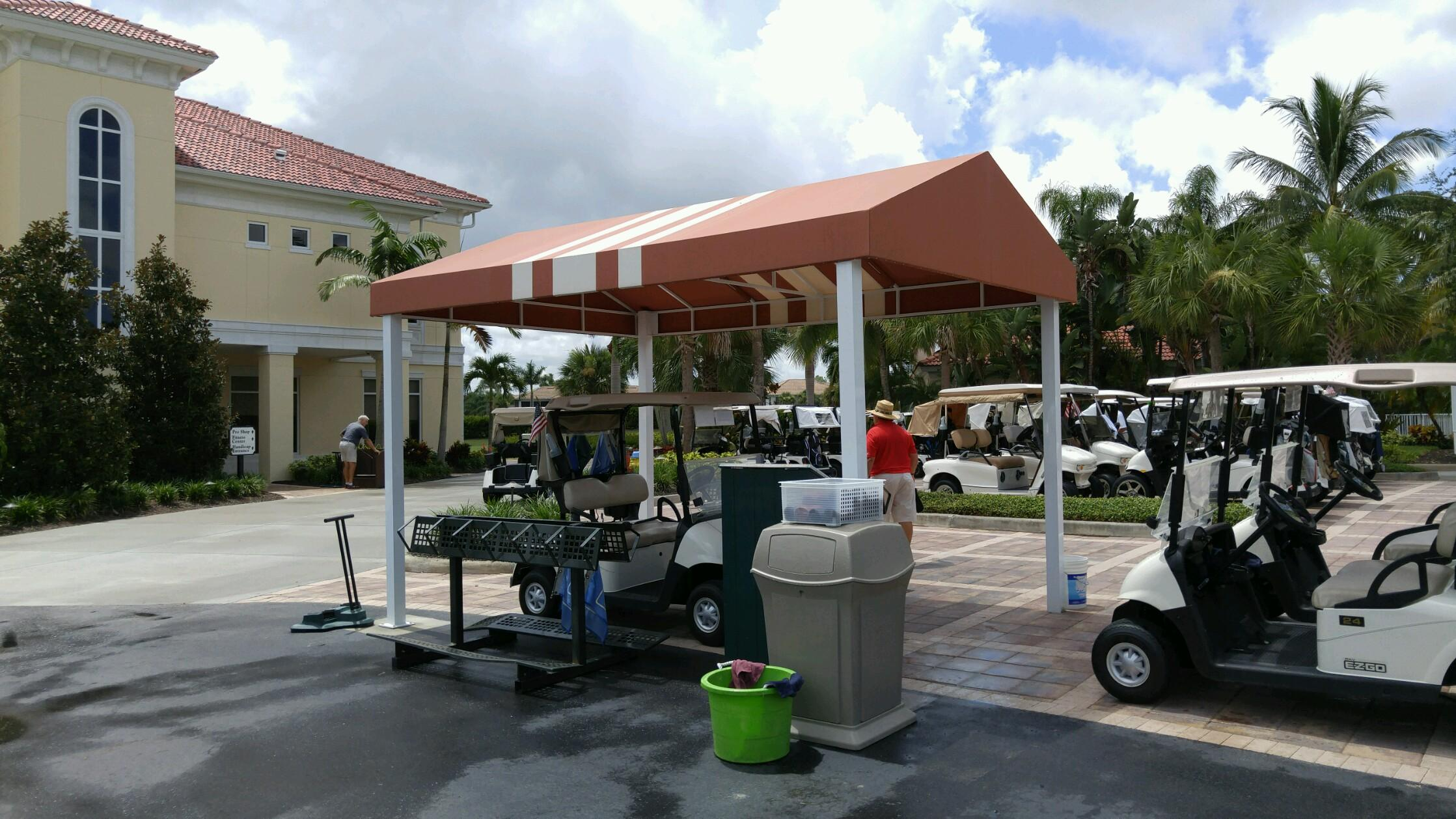 free standing canopy Coastal Canvas & Awnings - Fort Myers, Naples, SWFL