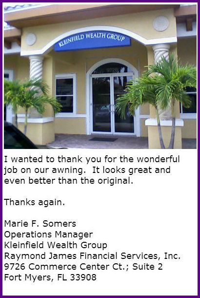 Coastal Canvas And Awning Serving Fort Myers Naples